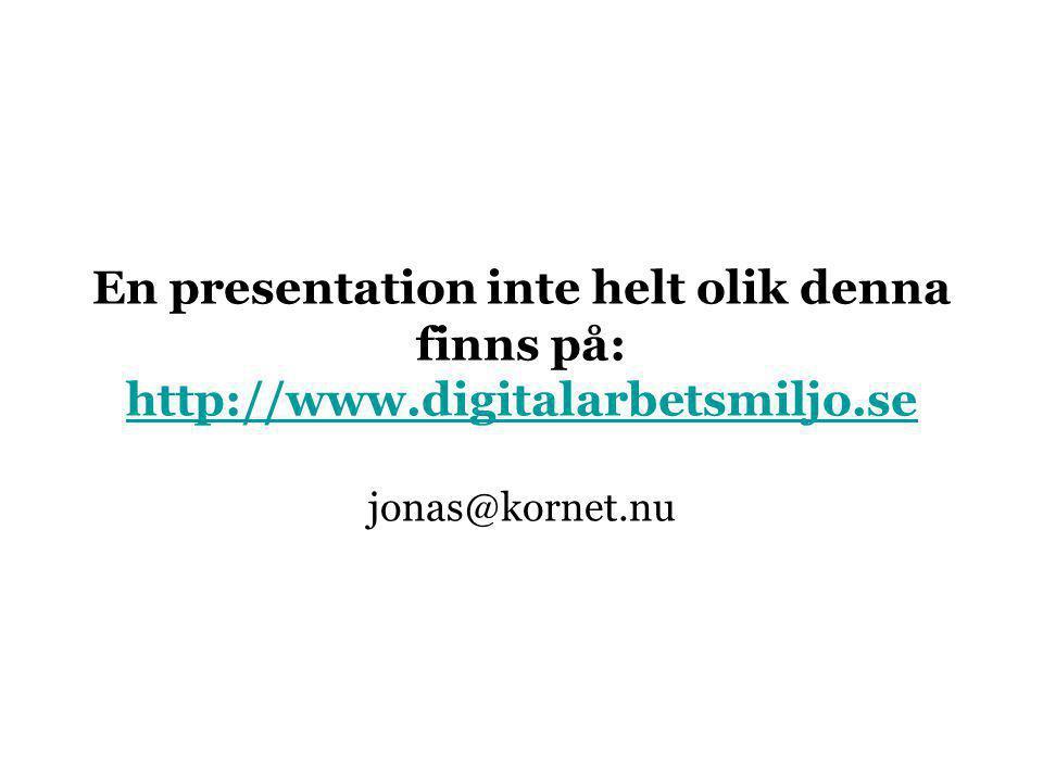 En presentation inte helt olik denna finns på: http://www