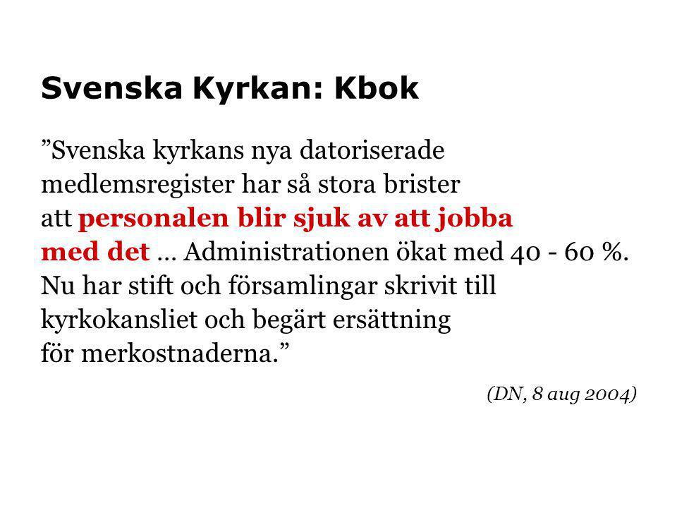 Svenska Kyrkan: Kbok