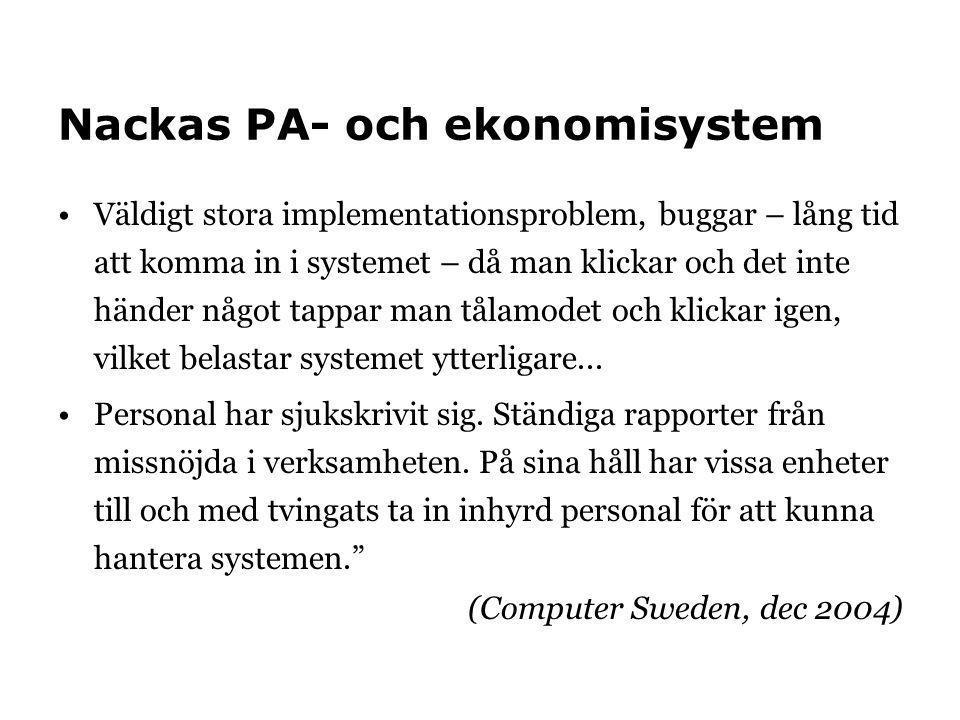 Nackas PA- och ekonomisystem