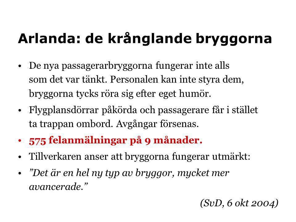 Arlanda: de krånglande bryggorna