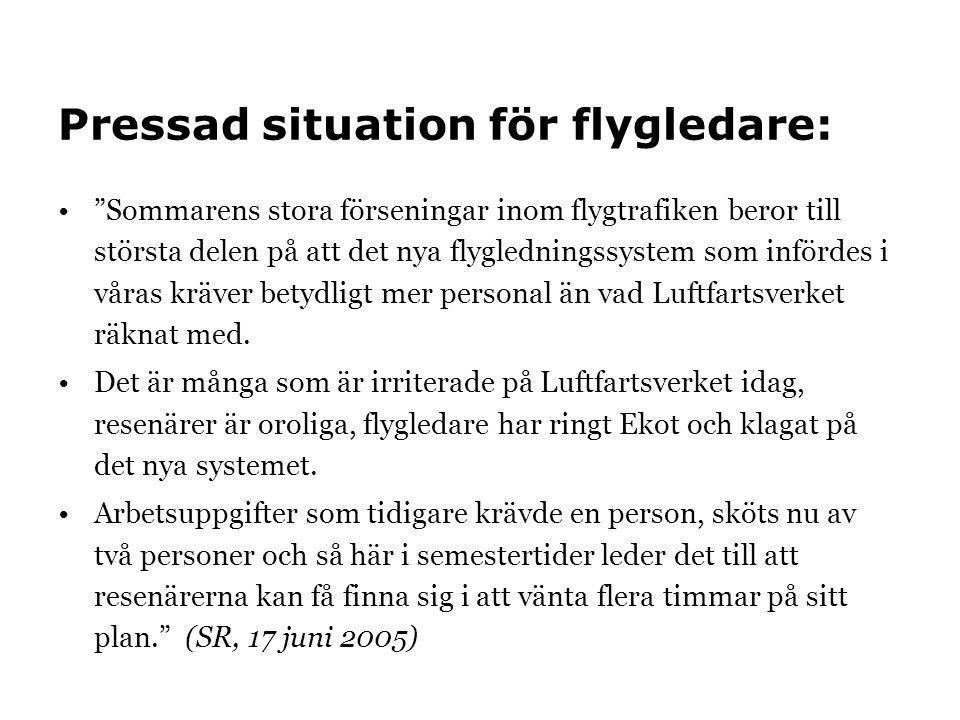 Pressad situation för flygledare: