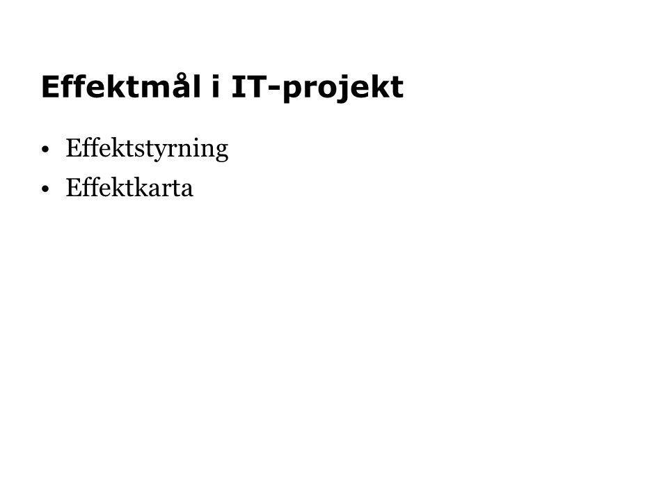 Effektmål i IT-projekt