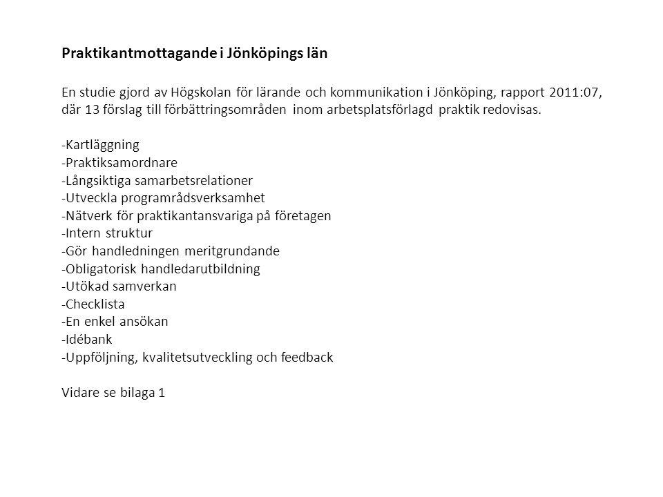 Praktikantmottagande i Jönköpings län