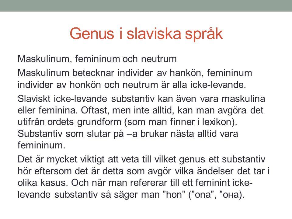 Genus i slaviska språk