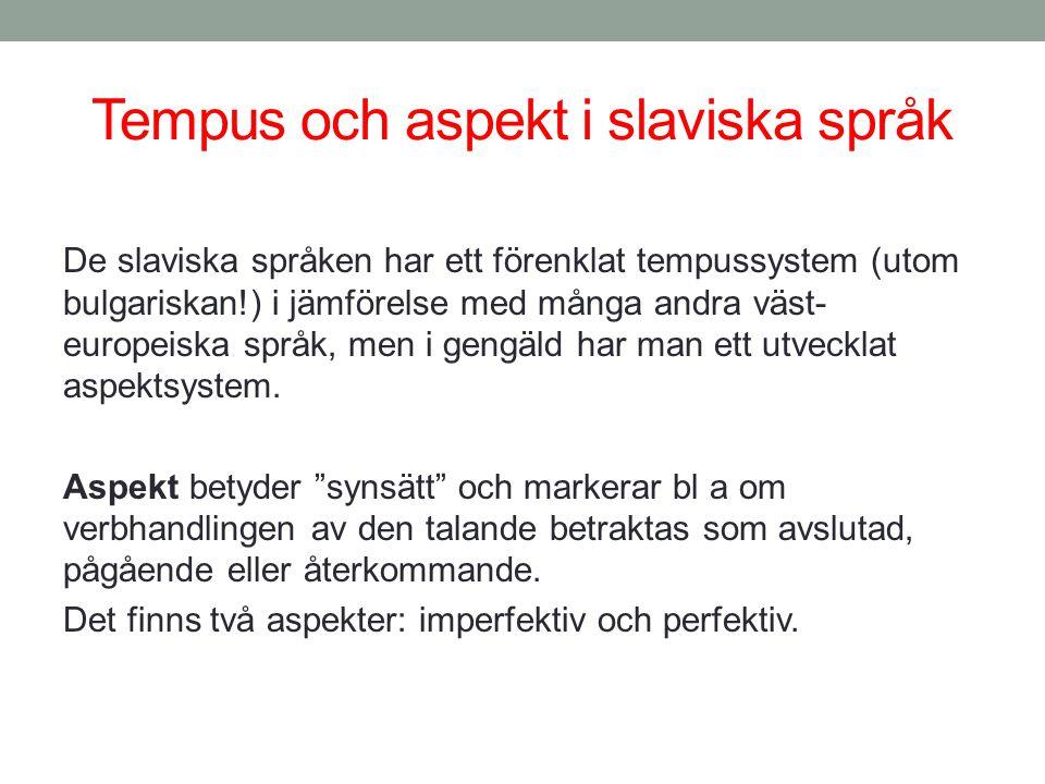Tempus och aspekt i slaviska språk