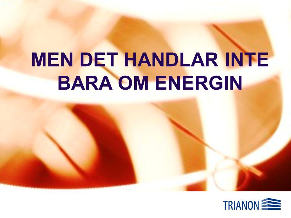 MEN DET HANDLAR INTE BARA OM ENERGIN
