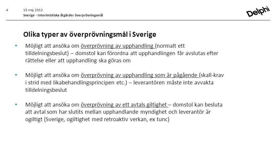 Olika typer av överprövningsmål i Sverige