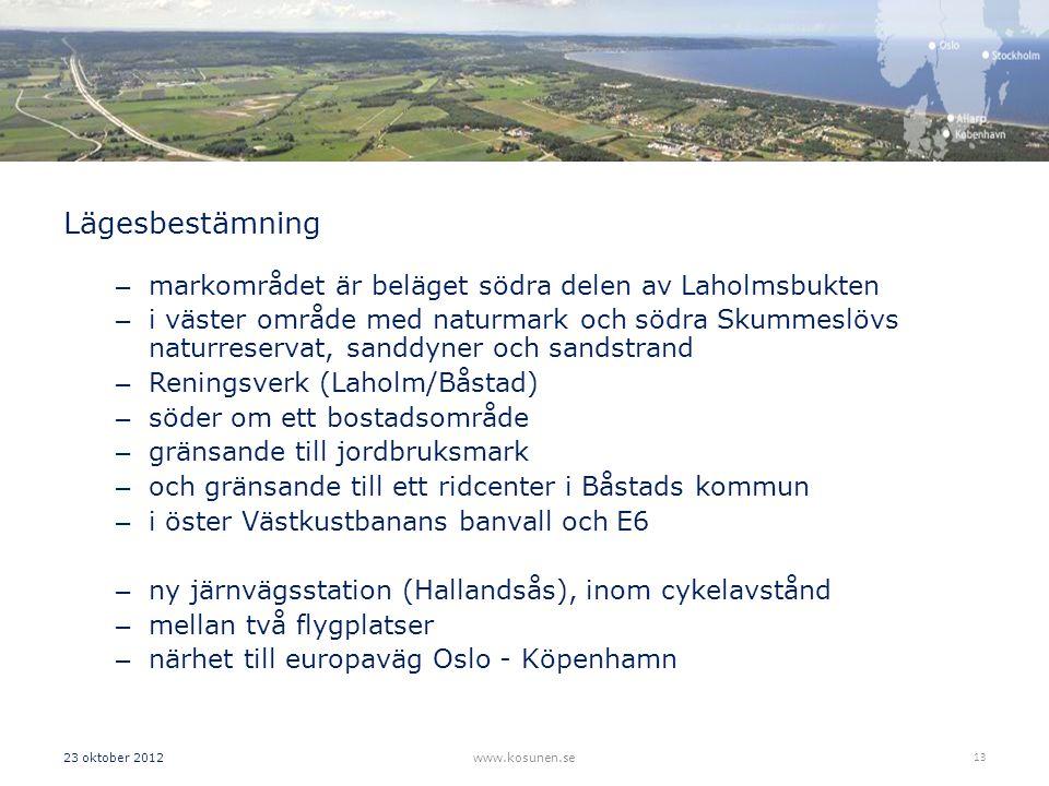 Lägesbestämning markområdet är beläget södra delen av Laholmsbukten