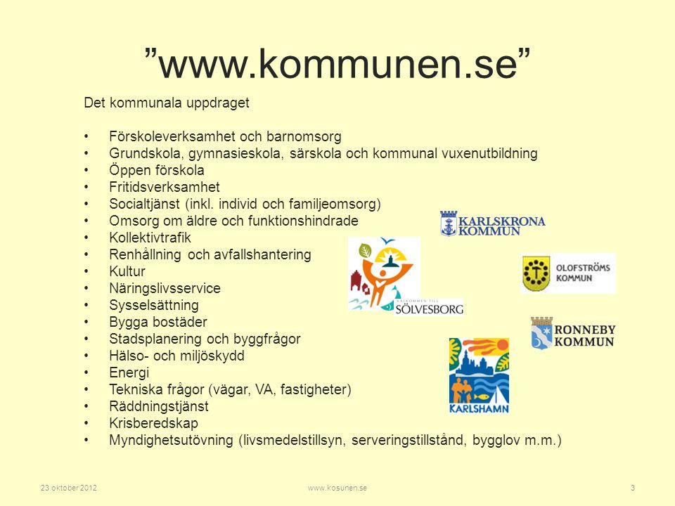 www.kommunen.se Det kommunala uppdraget