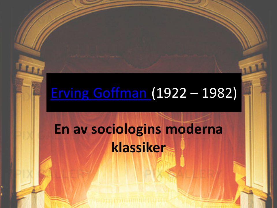 En av sociologins moderna klassiker