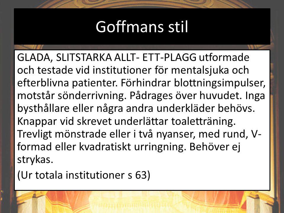 Goffmans stil