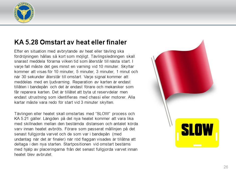 KA 5.28 Omstart av heat eller finaler