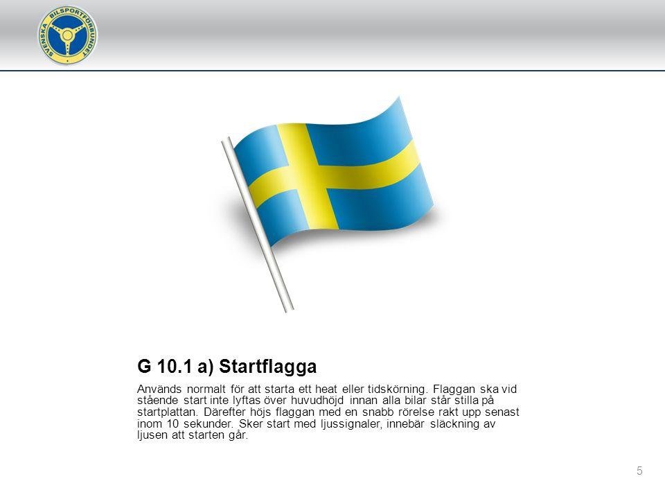 G 10.1 a) Startflagga
