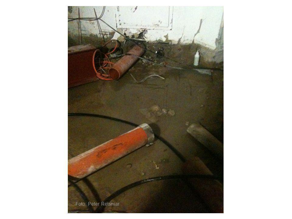 Dagvattenledning som körts sönder …