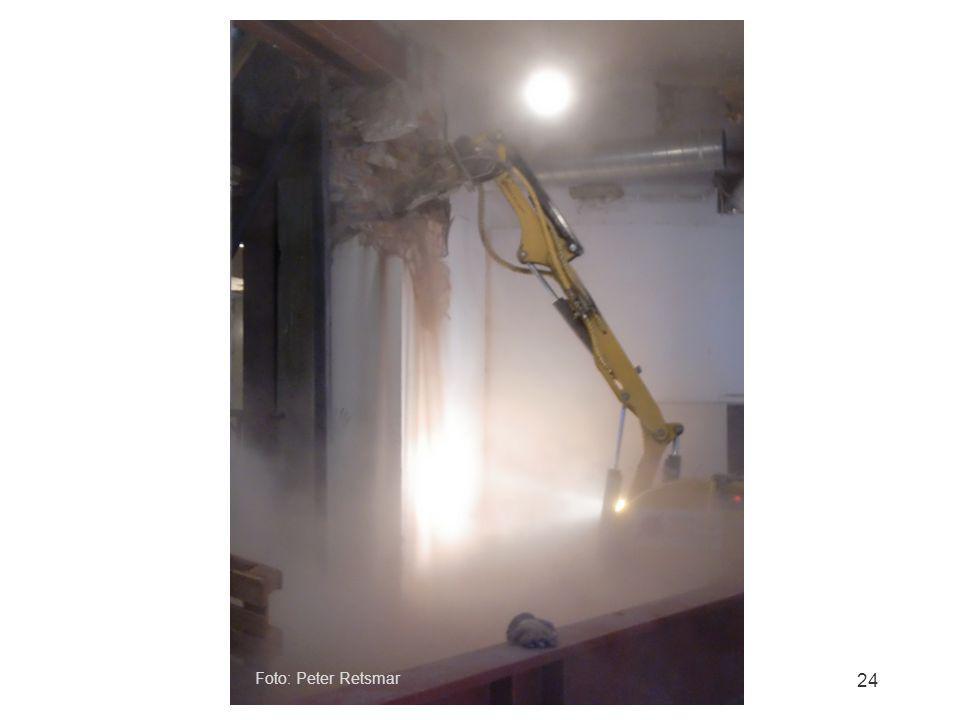 Dammbildning vid rivning inomhus