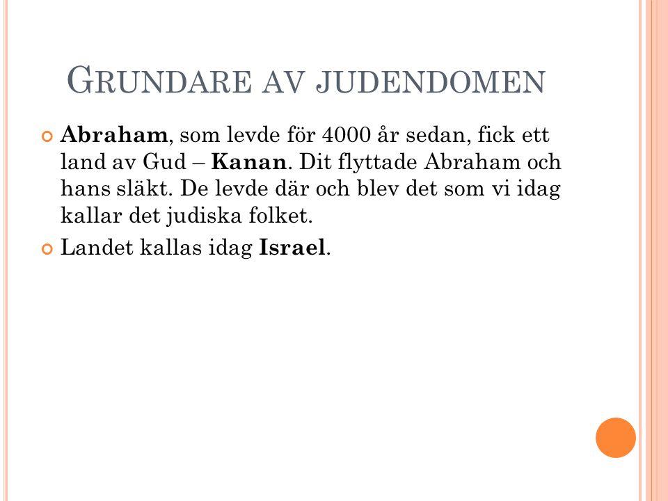 Grundare av judendomen