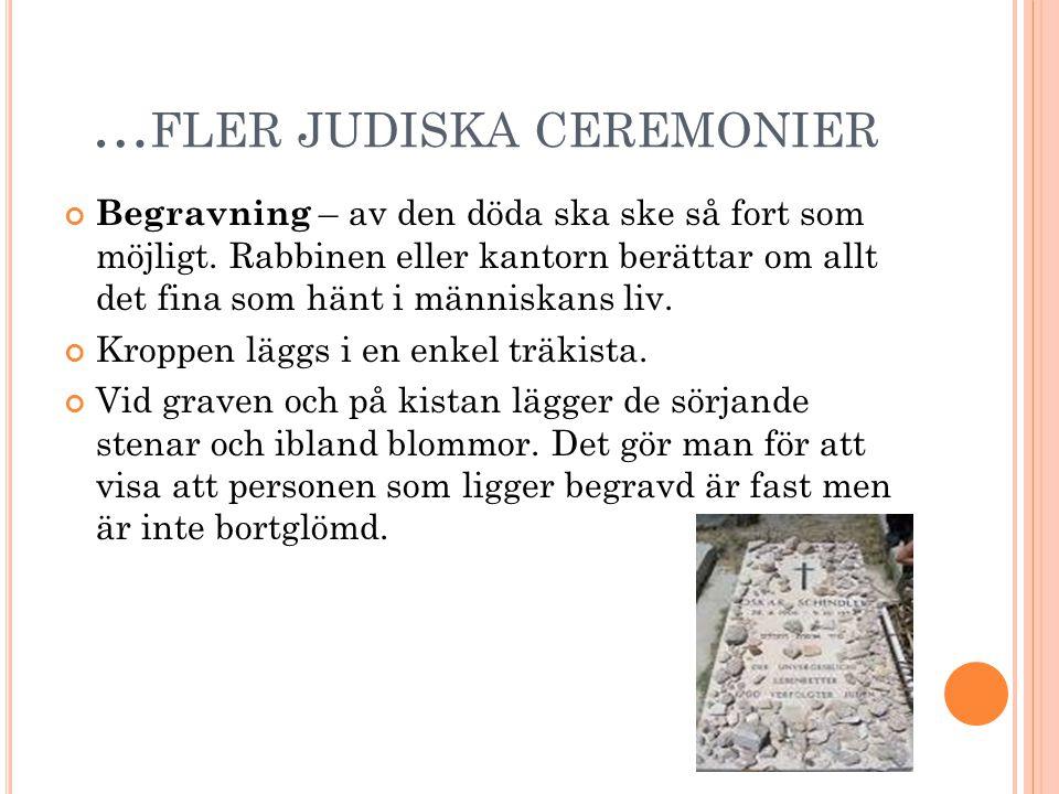 …fler judiska ceremonier