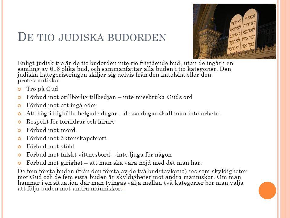 De tio judiska budorden