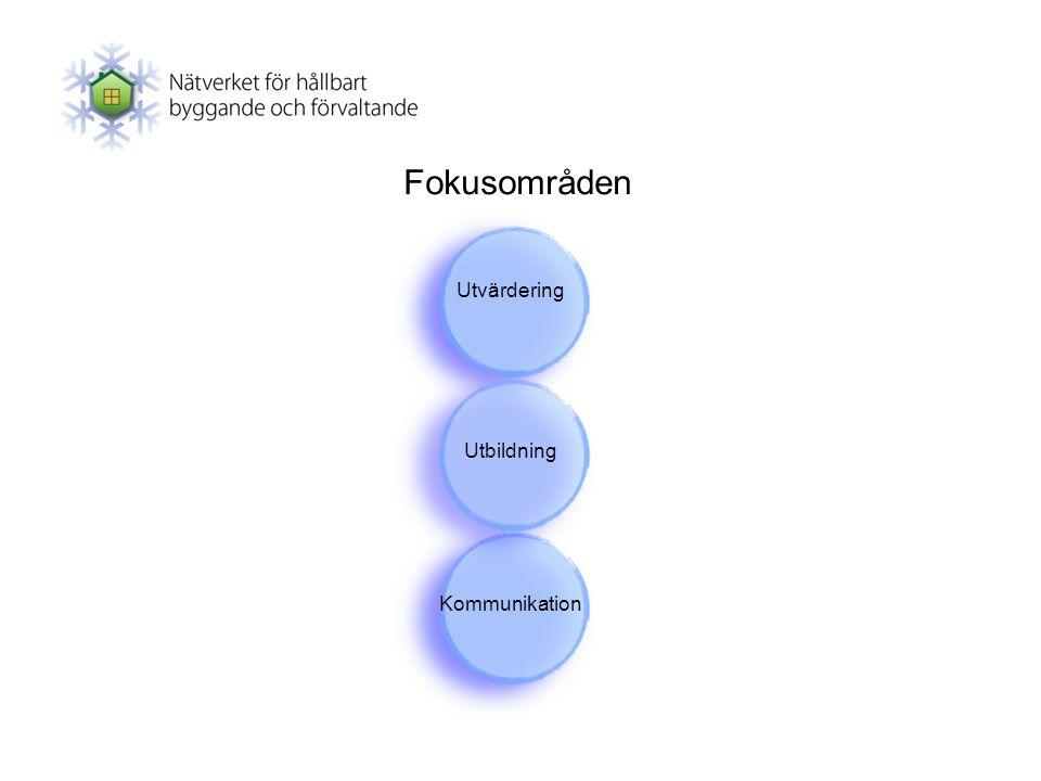 Fokusområden Utvärdering Utbildning Kommunikation