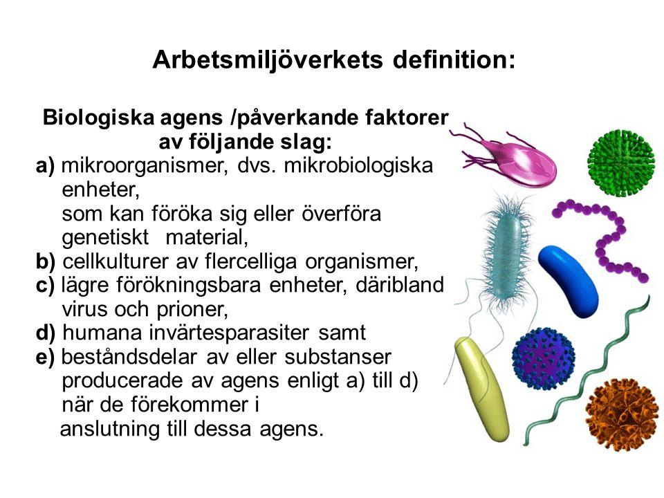 Arbetsmiljöverkets definition:
