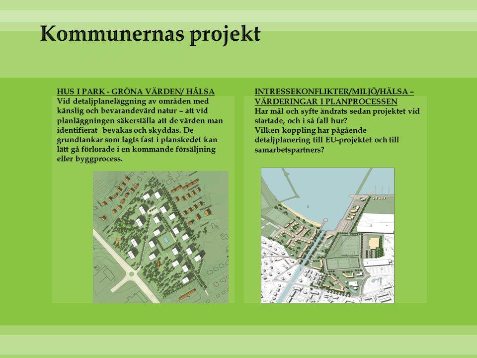 Kommunernas projekt INTRESSEKONFLIKTER/MILJÖ/HÄLSA – VÄRDERINGAR I PLANPROCESSEN.