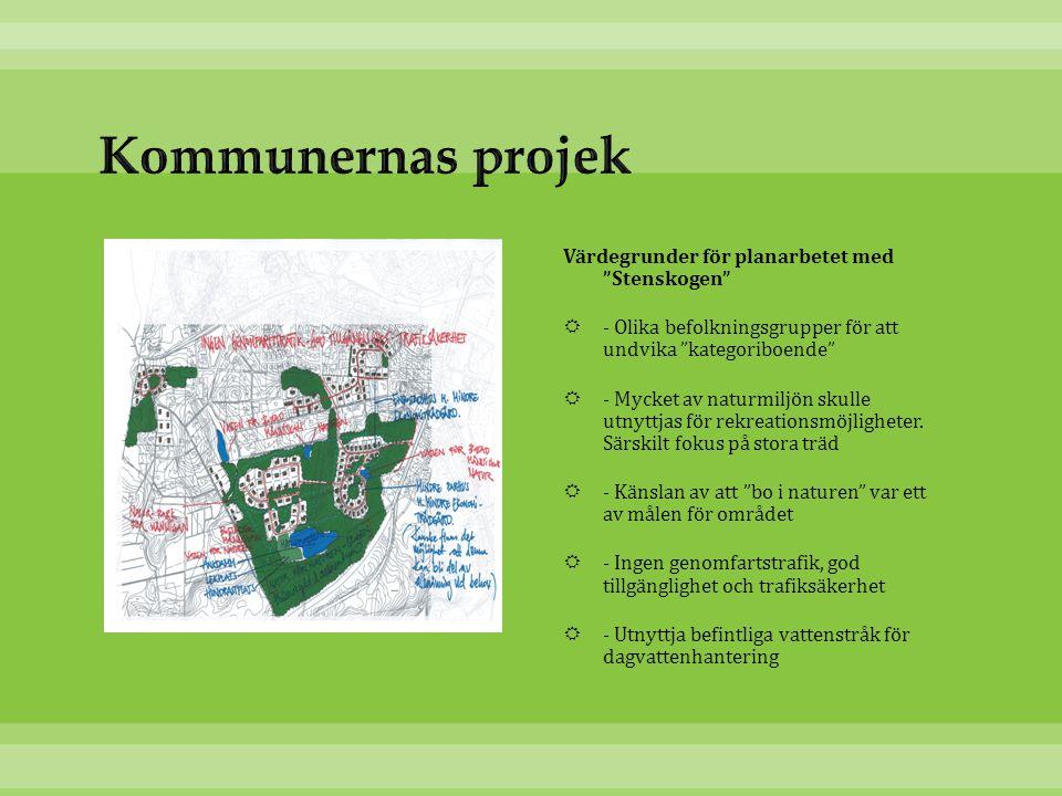 Kommunernas projek Värdegrunder för planarbetet med Stenskogen