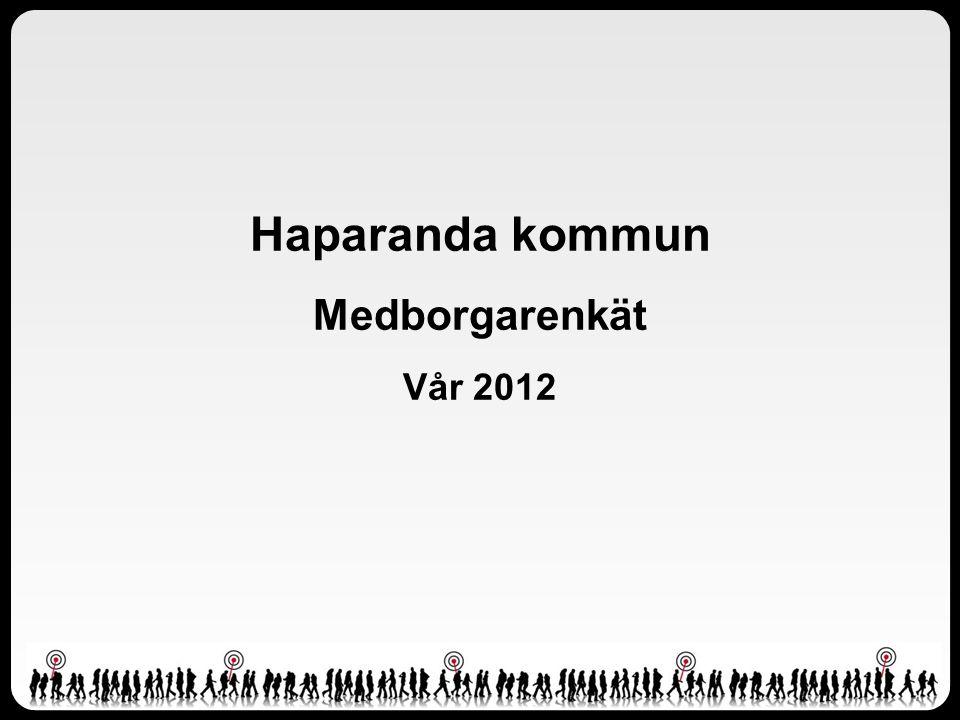 Haparanda kommun Medborgarenkät Vår 2012