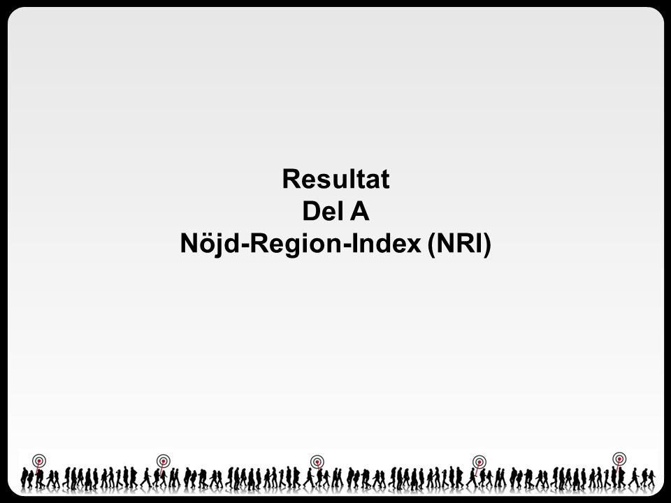 Resultat Del A Nöjd-Region-Index (NRI)
