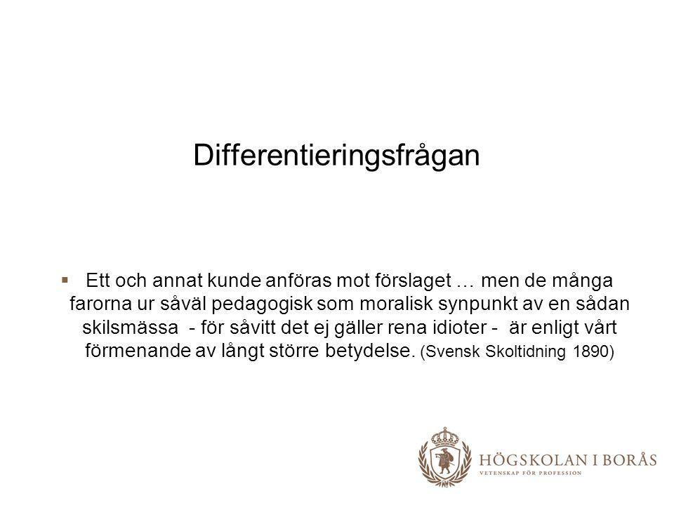 Differentieringsfrågan