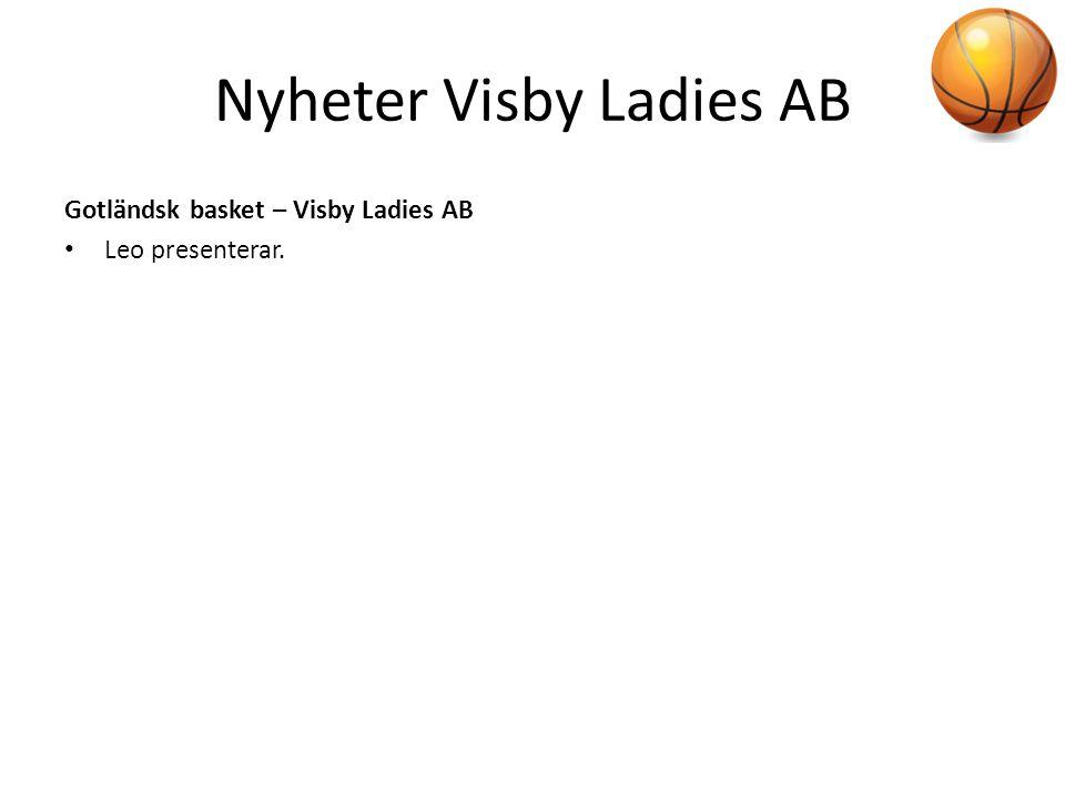 Nyheter Visby Ladies AB