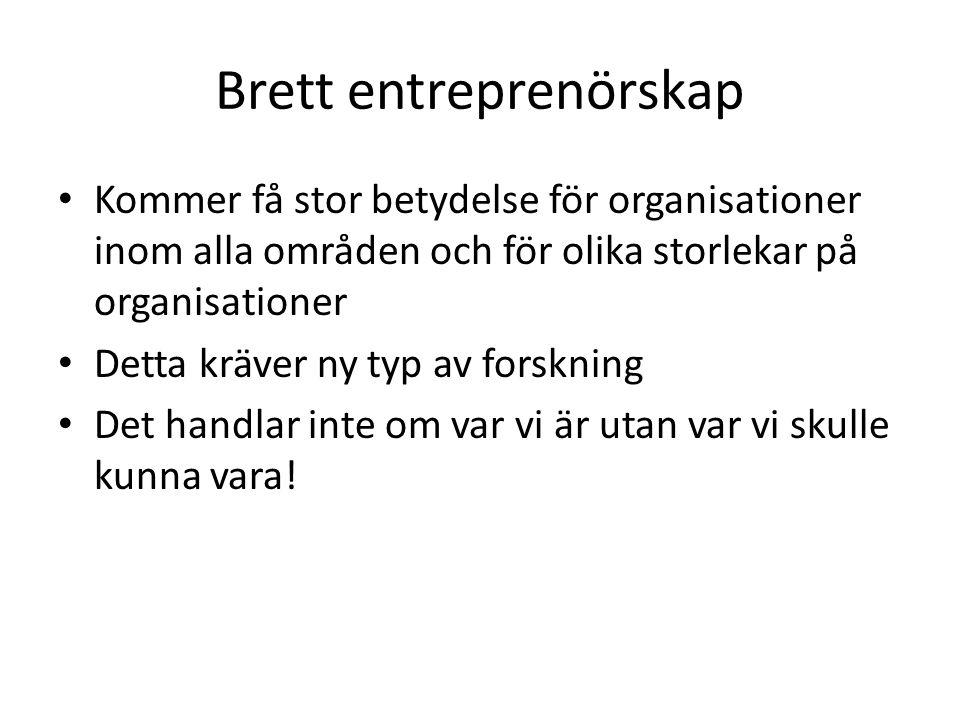 Brett entreprenörskap