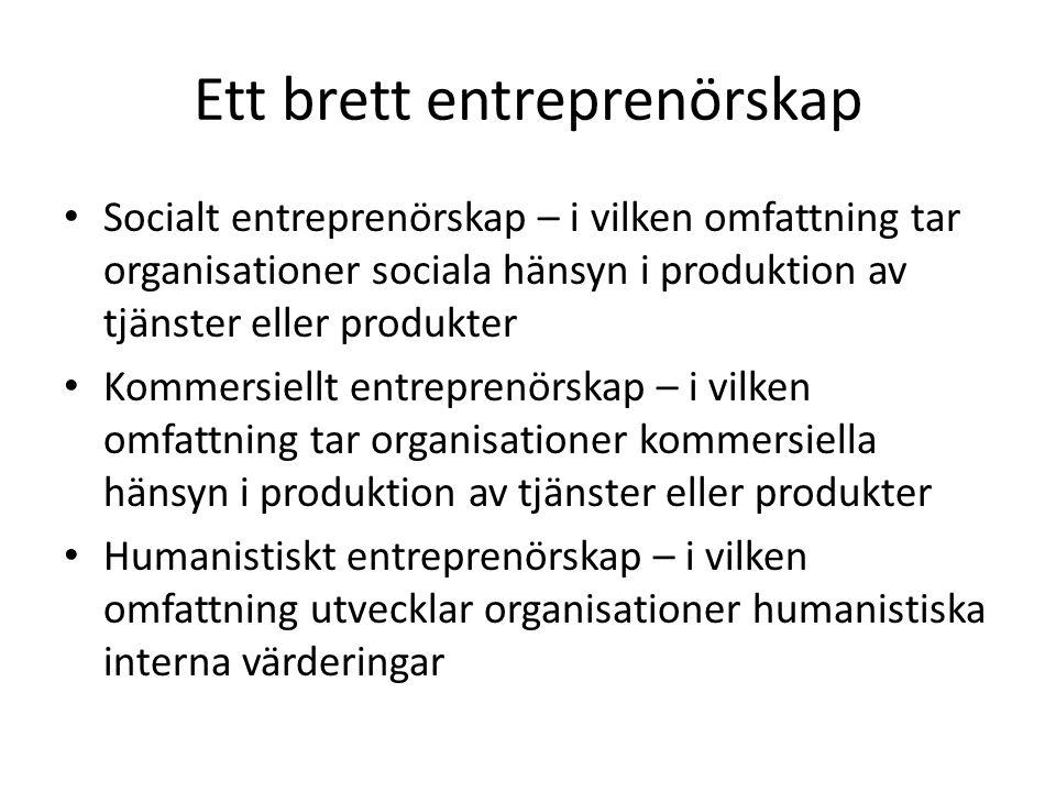 Ett brett entreprenörskap