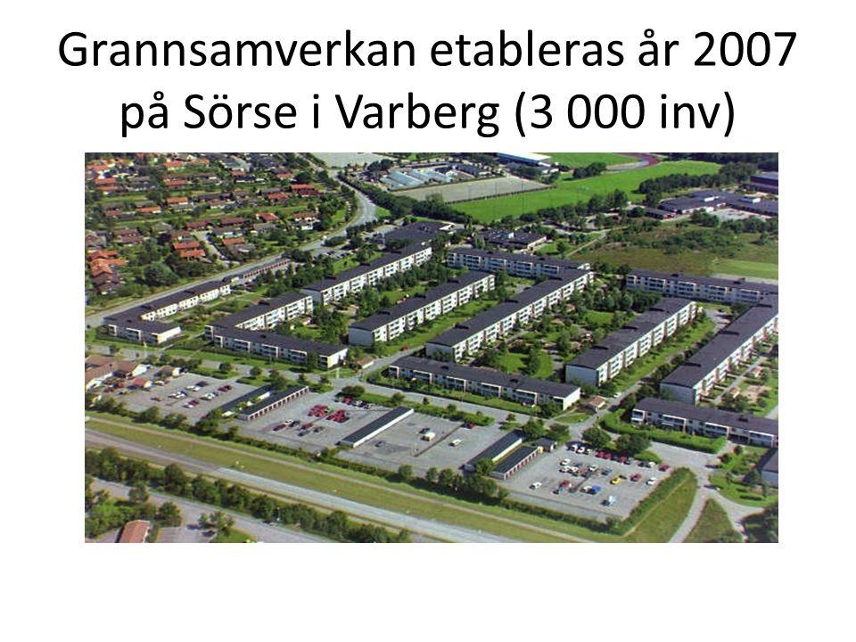Grannsamverkan etableras år 2007 på Sörse i Varberg (3 000 inv)