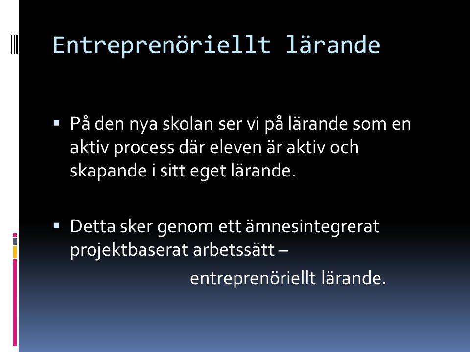 Entreprenöriellt lärande