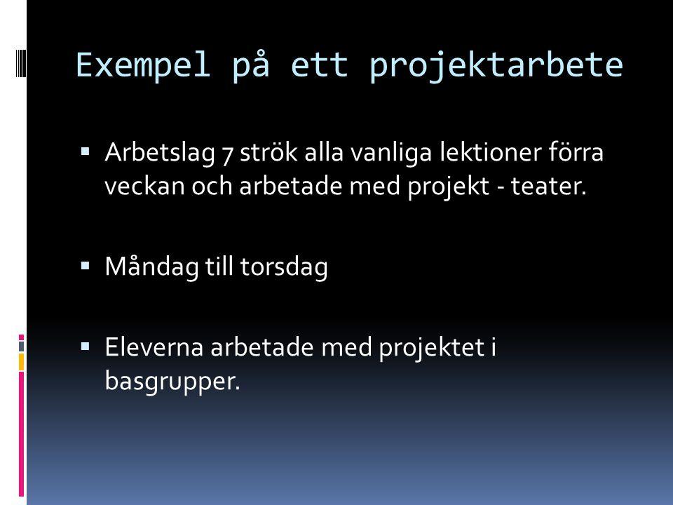 Exempel på ett projektarbete