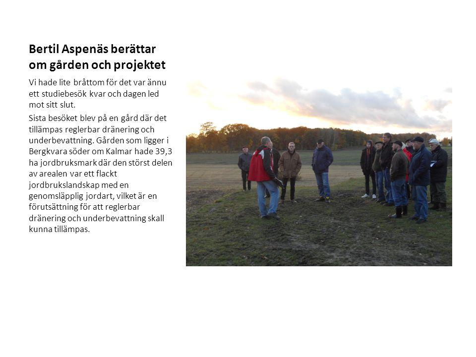 Bertil Aspenäs berättar om gården och projektet