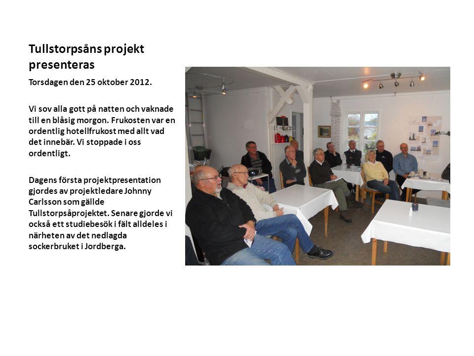 Tullstorpsåns projekt presenteras