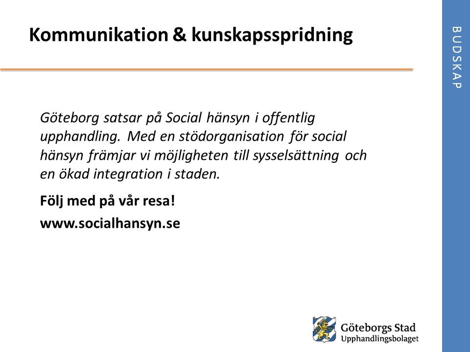 Kommunikation & kunskapsspridning