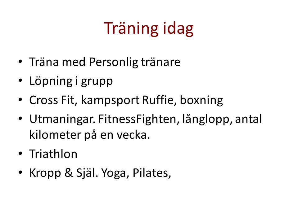 Träning idag Träna med Personlig tränare Löpning i grupp