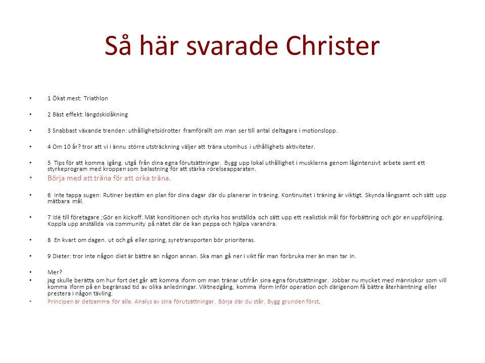 Så här svarade Christer
