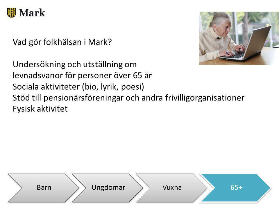Vad gör folkhälsan i Mark Undersökning och utställning om