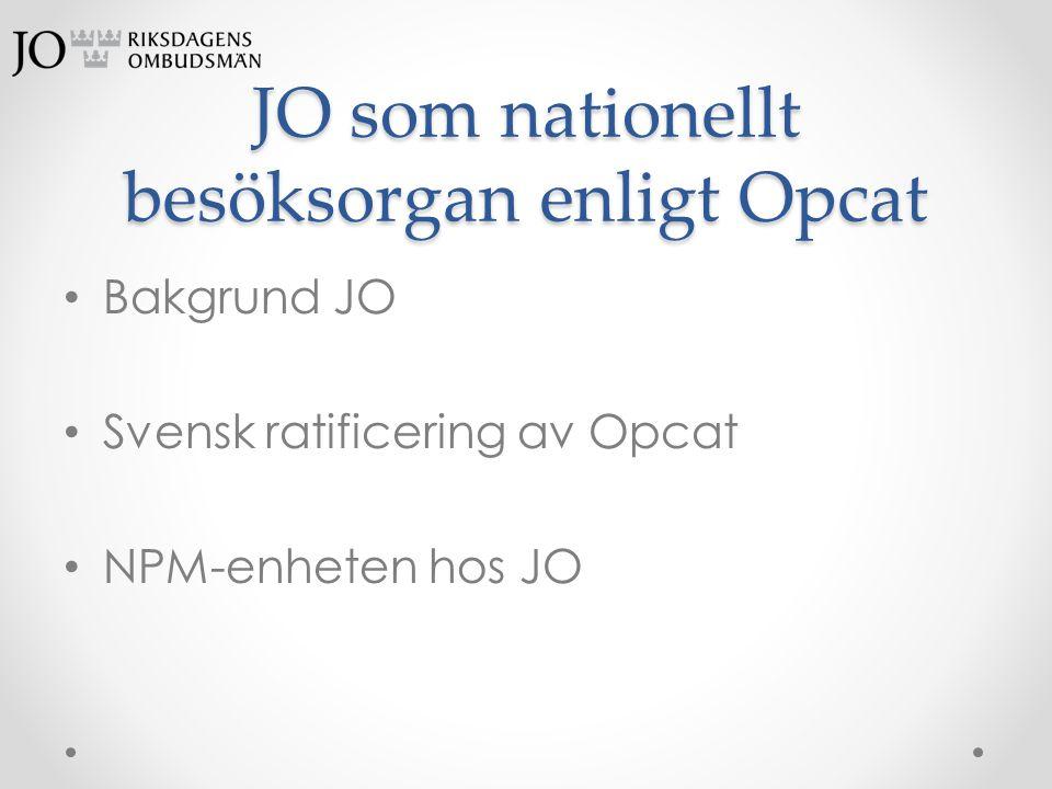 JO som nationellt besöksorgan enligt Opcat
