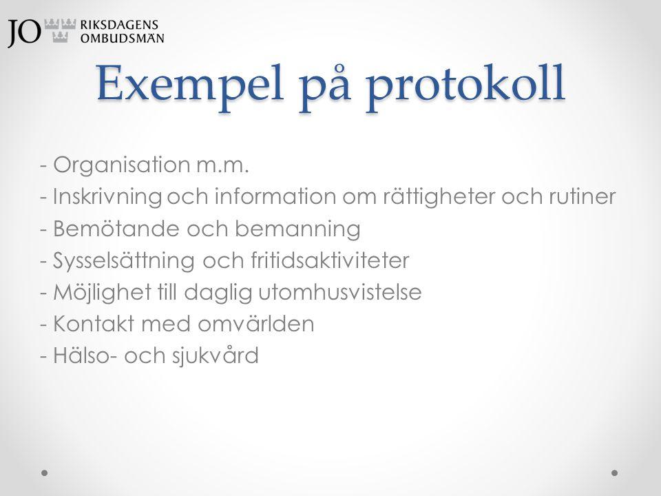 Exempel på protokoll