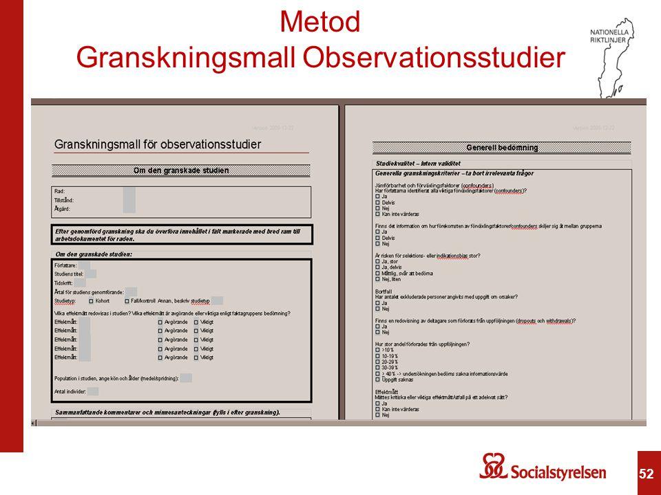 Granskningsmall Observationsstudier