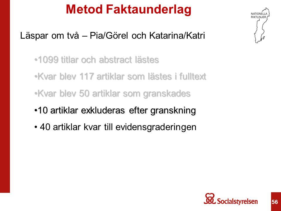 Metod Faktaunderlag Läspar om två – Pia/Görel och Katarina/Katri