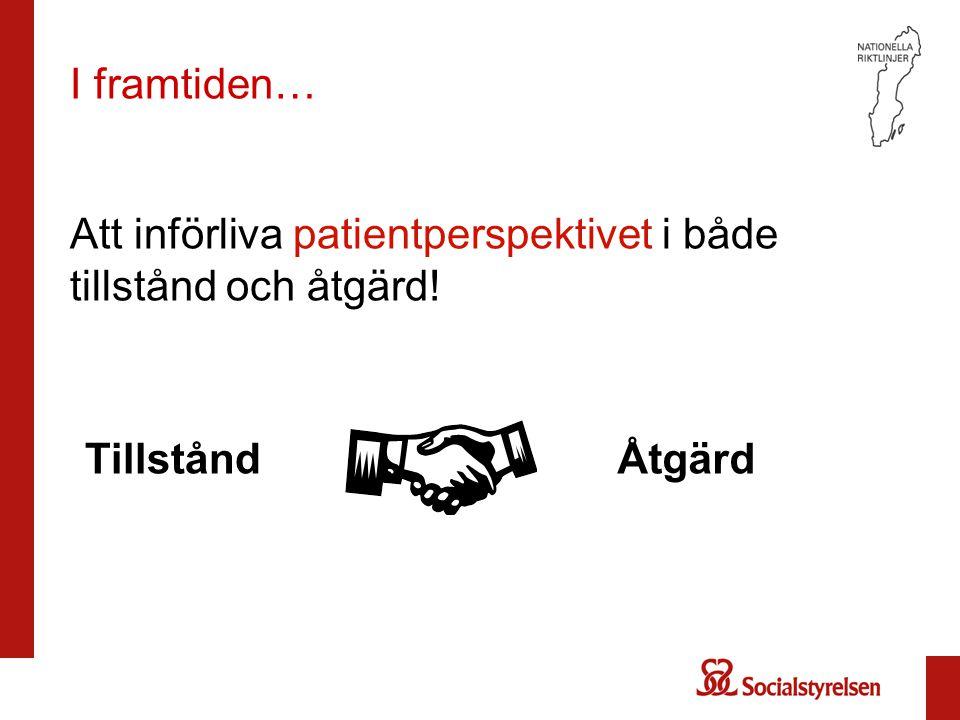 Att införliva patientperspektivet i både tillstånd och åtgärd!