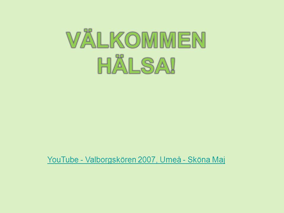 YouTube - Valborgskören 2007, Umeå - Sköna Maj