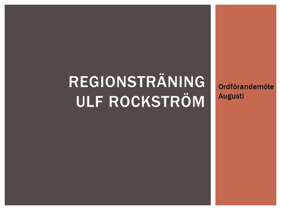 Regionsträning ulf rockström