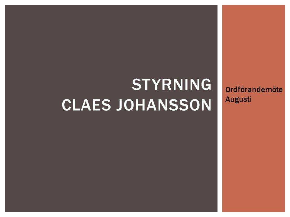 Styrning Claes johansson