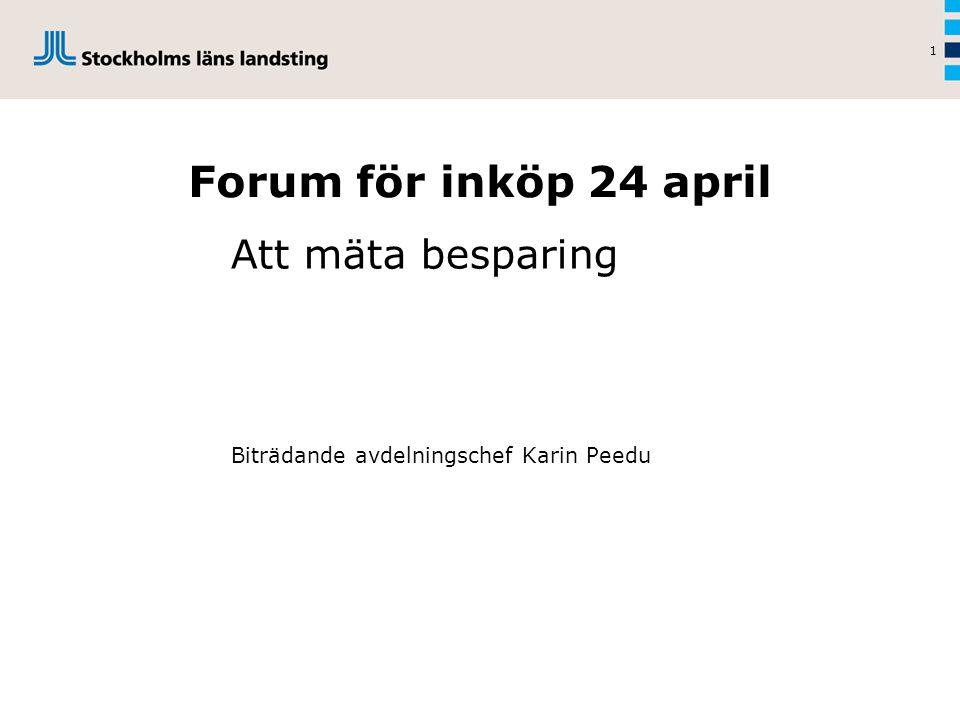 Att mäta besparing Biträdande avdelningschef Karin Peedu